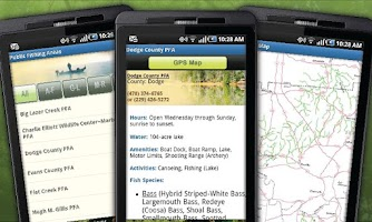 Screenshot of GA Fish & Wildlife Guide