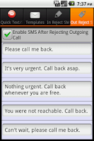 Screenshot of QText: Reject Text & Blacklist