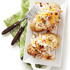 Potato Salad-Stuffed Spuds with Smoked Chicken