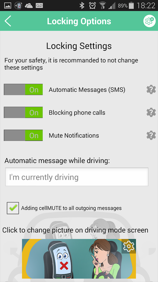 cellMUTE+ Drive Mode & More! Screenshot 7