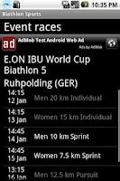 Screenshot of Biathlon sports