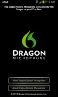 Screenshot of Dragon Remote Microphone