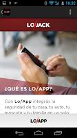 Screenshot of LoJack APP