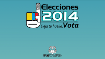 Screenshot of ELECCIONES COLOMBIA 9/3/2014