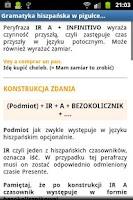 Screenshot of Hiszpański Gramatyka