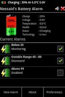 Screenshot of Battery Alarm (English)