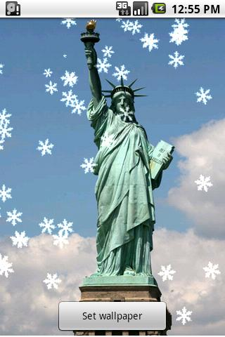 New York Xmas Live Wallpaper