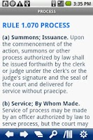 Screenshot of Florida Rules Civil Procedure