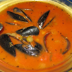 Mussels in Tarragon Tomato Broth