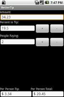 Screenshot of BetterTip