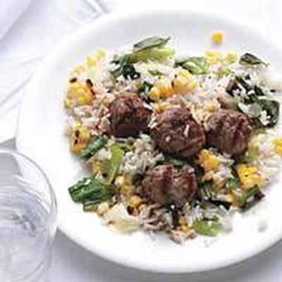 Spiced Lamb with Corn and Rice Pilaf