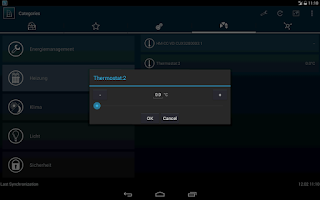 Screenshot of HomeDroid - HomeMatic Remote