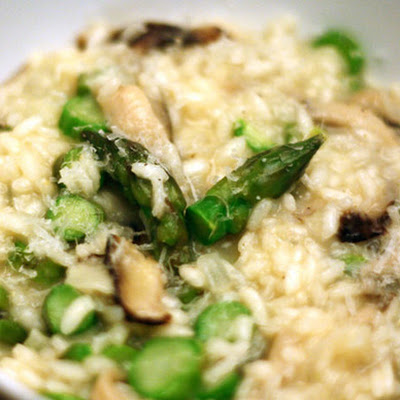 Asparagus and Shiitake Risotto