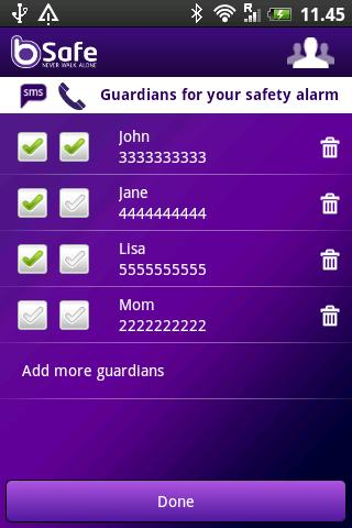 bsafe-personal-safety-alarm for android screenshot