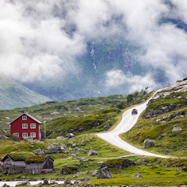 Journey to the clouds by Neil Gosling - Landscapes Mountains & Hills ( clouds, explore, audi, altitude, journey, travel, landscape, kiefer pass, norway, exploration, red, nature, norwegian, troll, path, a3, rugged )