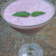 Blueberry aloe lassi