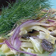 Orange, Fennel, Red Onion, and Black Olive Salad