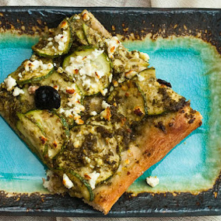 Zucchini and Pesto Pizza