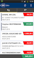 Screenshot of BW Mobilbanking