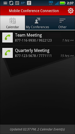 mobile-conference-connection for android screenshot