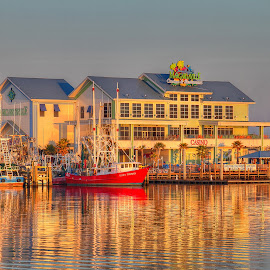 Margaritaville by Jeannie Meyer - Buildings & Architecture Other Exteriors ( water, waterscape, shrimp boat, margaritaville, sunrise,  )