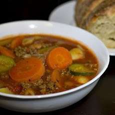 Minestrone Soup with Venison