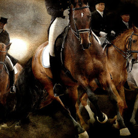 Grand Prix by Bjørn Borge-Lunde - Digital Art Things ( farm, rider, cowboy, nature, riding, horse, animal )