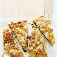 Prosciutto and Mushroom Quesadillas