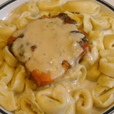 Fresh Broiled Salmon With Saucy Cheese Tortellini