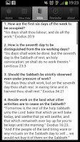 Screenshot of The Sabbath App