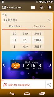 Free Countdown Widget, Countdown timer calendar app APK for Windows 8