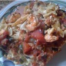 Spicy Shrimp And Scallops Pasta Casserole