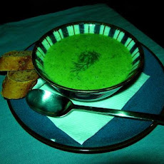 Creamy Green Pea Soup With Smoked Salmon