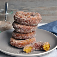 Multi-Grain Pumpkin Donuts with Spiced Sugar