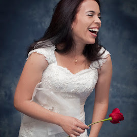 Happy Wedding Day by Keith Reling - People Portraits of Women ( laughing, wedding, wedding dress )