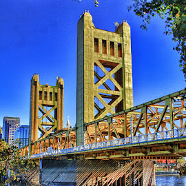 Twin Towers Bridge! by Fred Herring - Buildings & Architecture Bridges & Suspended Structures