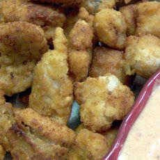 Catfish Poppers With Spicy Dipping Sauce