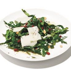 Kale Salad with Pinenuts, Currants and Parmesan