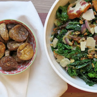 Mollie Katzen's Grilled Bread and Kale Salad with Red Onions, Walnuts and Figs