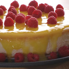 Goat Cheesecake With Lemon Curd and Raspberries (By Bird)