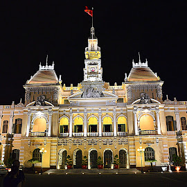 City Hall Saigon, Vietnam. by Andrew Piekut - Buildings & Architecture Public & Historical