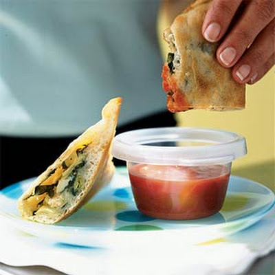 Roasted Chicken-Artichoke Calzones
