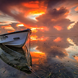 Morning Reflection by Dek Seplo - Transportation Boats