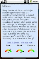 Screenshot of Horoscope Widget