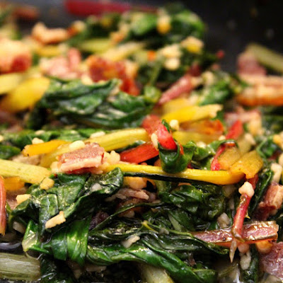 Rainbow Swiss Chard with Bacon
