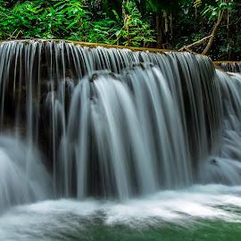 Waterfall Thailand by John Greene - Landscapes Waterscapes ( nature, waterfall, thailand, huay mae khamin, natural, kanchanaburi )