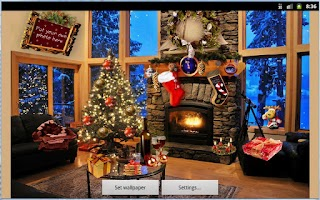 Screenshot of Christmas Fireplace LWP