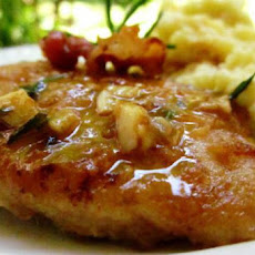 Chicken Cutlets With Bacon, Rosemary and Lemon