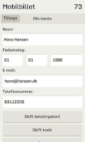 Screenshot of Mobilbillet