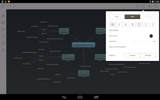 Screenshot of Mindomo (mind mapping)